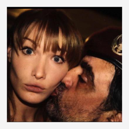 Graziano with Carla Bruni
