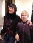 Angela DeVito con l'ospite e critica d'Arte Marica Rossi